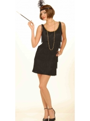 20's Sexy Black Flapper - Womens Costumes